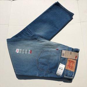 NWT Levi's 513 Slim Straight Jeans Size 36x32